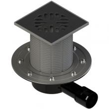 ТП-510.1P(Hs+Ms) Трап ПП 50/40 гориз. выпуск решетка чугун 150х150 /гидро+сухой мех. затвор/