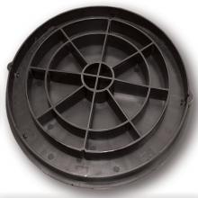 люк полипропиленовый 1,5т (a15) универсальный 315, черный, с рисунком  колодцы политэк