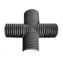 крестовина пэ гофр. канализационный 160х160х90° FDplast фитинги fdplast