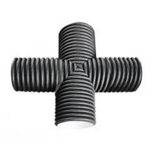 крестовина пэ гофр. канализационный 300х300х90° FDplast фитинги fdplast