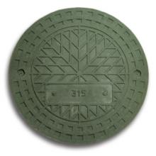 люк полимерно-композитный 1,5т (a15) для гофротрубы колодца ø315 п (зеленый) Политэк колодцы политэк