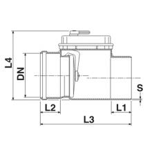клапан обратный пвх 200 кирп.  фитинги пвх