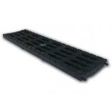 решетка 100 medium b-125 (усиленный композитный пластик), цвет черный к лотку  водоотводные лотки