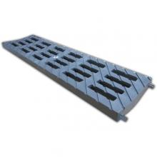 решетка 100 medium b-125 (усиленный композитный пластик), цвет металлик к лотку  водоотводные лотки