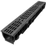 Лоток Ecoteck STANDART 100.125 h129 с решеткой чугунной, кл.С250