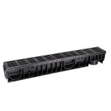 Лоток Ecoteck MEDIUM 100.125 h145 с черной решеткой пластиковой, кл.В125