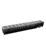 Лоток Ecoteck MEDIUM 100.125 h145 с решеткой металлик пластиковой, кл.В125