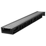 Лоток Ecoteck STANDART 100.65 h69 с решеткой стальной, кл. А15