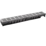 Лоток Ecoteck MEDIUM 100.65 h85 с решеткой металлик пластиковой, кл.В125
