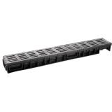 Лоток Ecoteck MEDIUM 100.95 h115 с решеткой металлик пластиковой, кл.В125