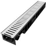 Лоток Ecoteck STANDART 100.95 h99 с решеткой стальной, кл. А15