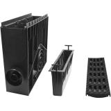 Пескоуловитель 100 h435 пластиковый в сборе с черной решеткой 100 MEDIUM В-125
