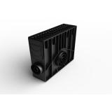 Пескоуловитель 100 h419 пластиковый в сборе с решеткой 100 (черный)