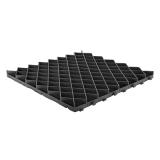 Решетка газонная РГ-60.60.4 пластиковая черная (600х600х40)