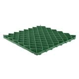 Решетка газонная РГ-60.60.4 пластиковая зеленая (600х600х40)