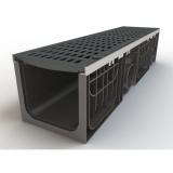 Лоток 200.210 h210 пластиковый HEAVY 200 E-600(в сборе со стальными насадками и чугунными решетками)