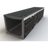 Лоток 200.210 h210 пластиковый HEAVY 200 (в сборе со стальными насадками и чугунными решетками)