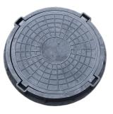 Люк полимерно-композитный легкий 780/100/60 мм 15 т (черный)
