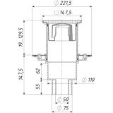ТП-310.1PDs Трап ПП 110/75/50 верт. выпуск решетка чугун 150х150 /поплавковый сухой затвор/