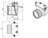 механический канализационный затвор для колодца тп-85.100.0  колодцы политэк