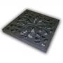 Решетка пластиковая декоративная, цвет металлик к дождеприемнику