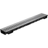 Лоток Ecoteck Lite 100h56 с решеткой пластиковой, кл. А15 (металлик)