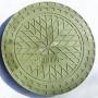Люк полимерно-композитный 1,5т (A15) для гофротрубы колодца 460 мм (зеленый)