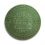 Люк полимерно-композитный 1,5т (A15) для гофротрубы колодца 425 В (зеленый)