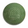 Люк полимерно-композитный 1,5т (A15) для гофротрубы колодца 315 В (зеленый)