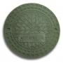 Люк полимерно-композитный 1,5т (A15) для гофротрубы колодца 315 П (зеленый)