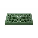 Решетка пластиковая декоративная (зеленый папоротник) к дождеприемнику