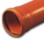 Труба ПВХ кан. раструбная 200-4,9-6090 кирп.
