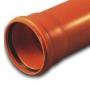 Труба НПВХ кан. раструбная 250-6,2-6130 кирп.