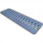 Решетка 100 пластиковая Волна, цвет металлик к лотку