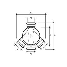 wavin соединительная лотковая часть пп тип ii (левый и правый притоки) 425х160х160 №22978012 Wavin колодец wavin ø425