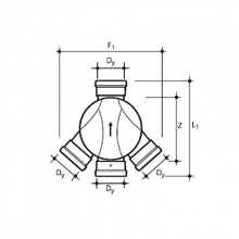 wavin соединительная лотковая часть пп тип ii (левый и правый притоки) 315х110х110 №22970011 Wavin колодец wavin ø315