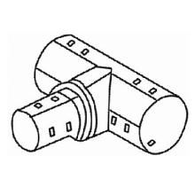 тройник неравнопроходной для труб гофр. d=110/200 мм  дренажные фитинги