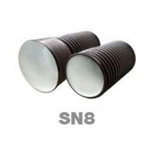 труба пэ канал. двухслойная раструбная sn8 ø290/250 l-6000 мм FDplast трубы гофрированные fdplast